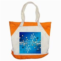 Block Chain Data Records Concept Accent Tote Bag