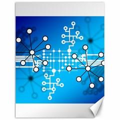 Block Chain Data Records Concept Canvas 12  X 16