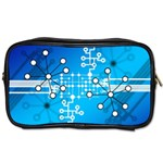 Block Chain Data Records Concept Toiletries Bags Front