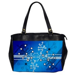 Block Chain Data Records Concept Office Handbags