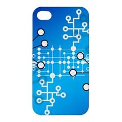 Block Chain Data Records Concept Apple Iphone 4/4s Hardshell Case