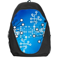 Block Chain Data Records Concept Backpack Bag