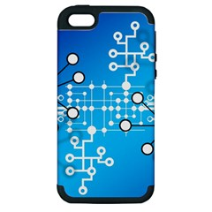 Block Chain Data Records Concept Apple Iphone 5 Hardshell Case (pc+silicone)
