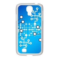 Block Chain Data Records Concept Samsung Galaxy S4 I9500/ I9505 Case (white)
