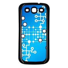 Block Chain Data Records Concept Samsung Galaxy S3 Back Case (black)