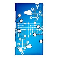 Block Chain Data Records Concept Nokia Lumia 720