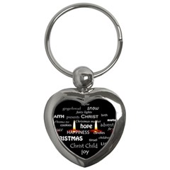 Candles Christmas Advent Light Key Chains (heart)