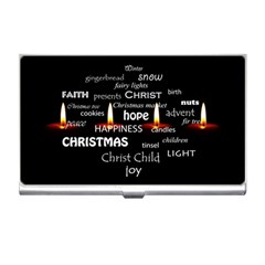 Candles Christmas Advent Light Business Card Holders