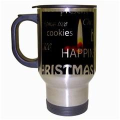 Candles Christmas Advent Light Travel Mug (silver Gray)