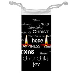 Candles Christmas Advent Light Jewelry Bag