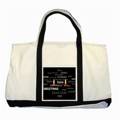 Candles Christmas Advent Light Two Tone Tote Bag