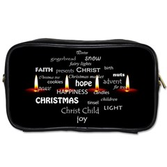 Candles Christmas Advent Light Toiletries Bags
