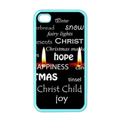 Candles Christmas Advent Light Apple Iphone 4 Case (color)