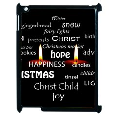 Candles Christmas Advent Light Apple Ipad 2 Case (black)