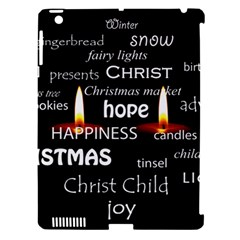 Candles Christmas Advent Light Apple Ipad 3/4 Hardshell Case (compatible With Smart Cover)