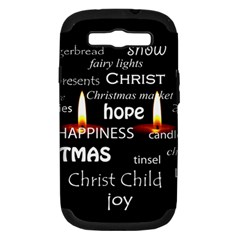 Candles Christmas Advent Light Samsung Galaxy S Iii Hardshell Case (pc+silicone)