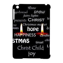 Candles Christmas Advent Light Apple Ipad Mini Hardshell Case (compatible With Smart Cover)