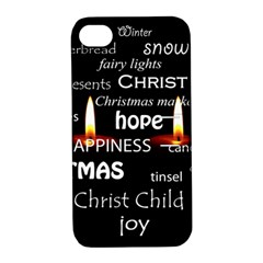 Candles Christmas Advent Light Apple Iphone 4/4s Hardshell Case With Stand