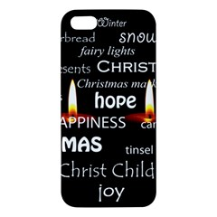 Candles Christmas Advent Light Apple Iphone 5 Premium Hardshell Case