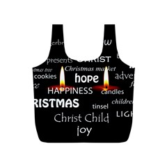 Candles Christmas Advent Light Full Print Recycle Bags (s)