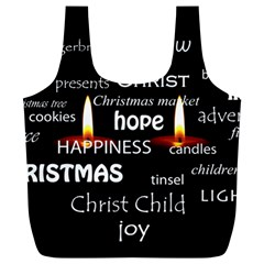 Candles Christmas Advent Light Full Print Recycle Bags (l)