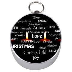 Candles Christmas Advent Light Silver Compasses