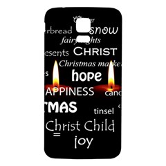 Candles Christmas Advent Light Samsung Galaxy S5 Back Case (white)