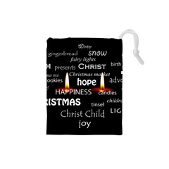 Candles Christmas Advent Light Drawstring Pouches (small)