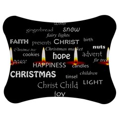Candles Christmas Advent Light Jigsaw Puzzle Photo Stand (bow)