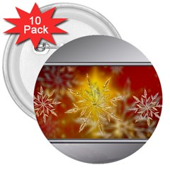 Christmas Candles Christmas Card 3  Buttons (10 Pack)