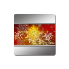 Christmas Candles Christmas Card Square Magnet