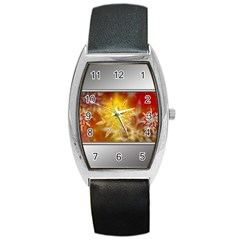 Christmas Candles Christmas Card Barrel Style Metal Watch