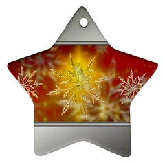 Christmas Candles Christmas Card Star Ornament (two Sides)