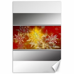 Christmas Candles Christmas Card Canvas 20  X 30