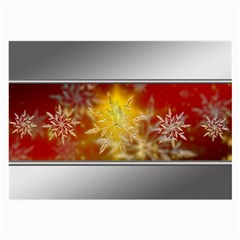 Christmas Candles Christmas Card Large Glasses Cloth (2 Side)