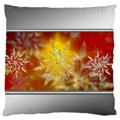 Christmas Candles Christmas Card Large Cushion Case (one Side)