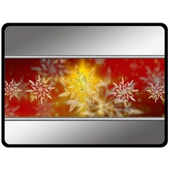 Christmas Candles Christmas Card Double Sided Fleece Blanket (large)
