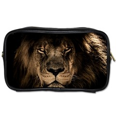 African Lion Mane Close Eyes Toiletries Bags