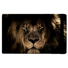 African Lion Mane Close Eyes Apple Ipad 2 Flip Case