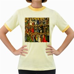 All Saints Christian Holy Faith Women s Fitted Ringer T Shirts