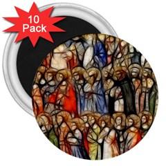 All Saints Christian Holy Faith 3  Magnets (10 Pack)