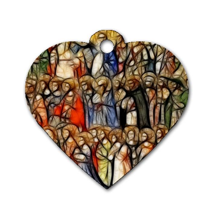 All Saints Christian Holy Faith Dog Tag Heart (One Side)