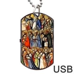 All Saints Christian Holy Faith Dog Tag Usb Flash (one Side)