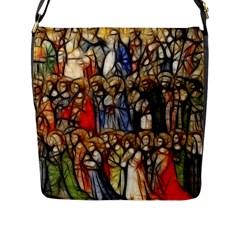 All Saints Christian Holy Faith Flap Messenger Bag (l)