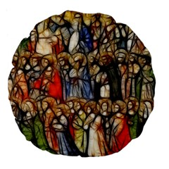 All Saints Christian Holy Faith Large 18  Premium Flano Round Cushions