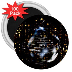 Christmas Star Ball 3  Magnets (100 Pack)