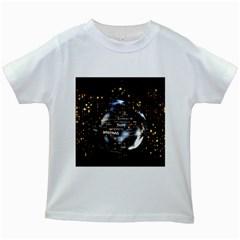 Christmas Star Ball Kids White T Shirts