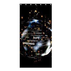 Christmas Star Ball Shower Curtain 36  X 72  (stall)