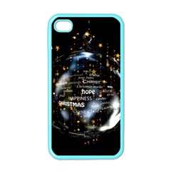 Christmas Star Ball Apple Iphone 4 Case (color)