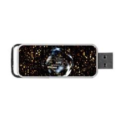 Christmas Star Ball Portable Usb Flash (one Side)